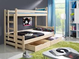 lit enfant superposé 2 places avec 1 grand couchage 120 x 200 cm