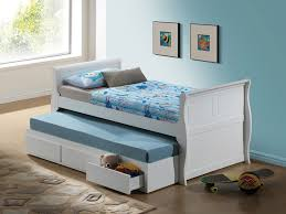 bedroom cozy white trundle beds with striped bedding and walmart