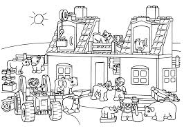 Lego Train Station Coloring Page For Kids Printable Free Pages