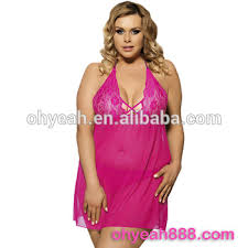 Wholesale Rosy Red Bedroom Sexy Wear Wedding Night Mature Women Babydoll