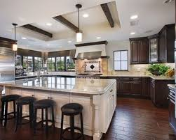 Kitchens With Dark Cabinets And Wood Floors by Dark Cabinets With White Island Kitchen Ideas U0026 Photos Houzz