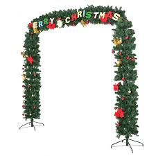 9 x 8 pre lit artificial archway christmas tree w led lights