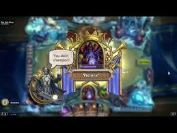 easy win warlock deck for lich king hearthstone youtube