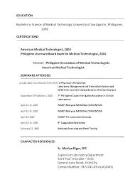 Cv Medic Tech Technology Resume Template Medical Lab Technician Sample Bunch Ideas Of