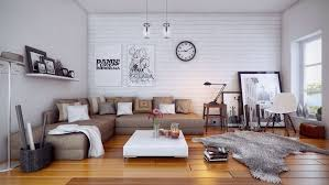With WHite Furry Rug And Impressive Ideas For Decorating Apartment Living Room Design Magnificent Parquet Flooring