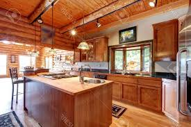 Rustic Log Cabin Kitchen Ideas by Kitchen Room 2017 Design Large Log Cabin Kitchen Interior With