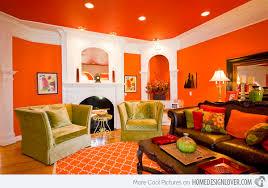 Orange Living Room Design khosrowhassanzadeh