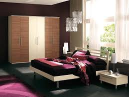 Neutral Colors For Bedroom Decor With Deep Purplish Red Accents