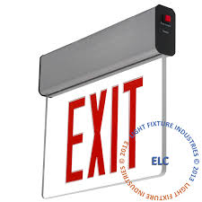edge lit exit signs exit light co