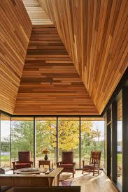 100 Wooden Ceiling Massive Wooden Ceiling Under A Lightwell In A Cabin With