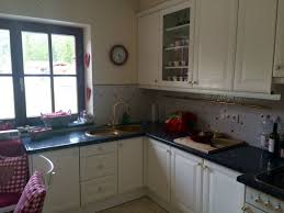 küche mit blue pearl granit arbeitsplatte
