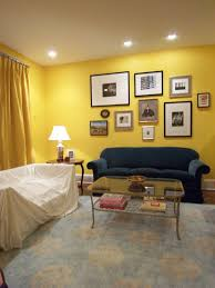 Yellow Accent Wall Living Room