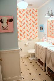 Coral Bathroom by The Kids Bathroom Makeover Reveal U2013