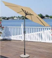 9 Ft Patio Market Umbrella by 9 U0027 Outdoor Patio Market Umbrella With Hand Crank And Tilt Terra
