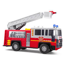 100 Fire Trucks Toys Playkidiz Toy 15 Inch Truck For Kids With Lights And Sounds Classic Red And White Rolling Emergency Vehicle Interactive Play Movable Ladder