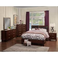 King Platform Bed With Leather Headboard by Alpine Furniture Ncc 07ck Costa Mesa California King Platform Bed