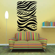wandtattoo safari afrika zebra muster lines xl