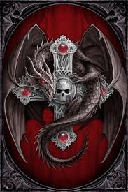 Anne Stokes Gothic Dragon Large Art Tile