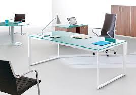 bureau metal verre bureau direction verre pas cher en promotion et en stock jade