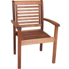 Stackable Patio Chairs Walmart by Milano Fsc Eucalyptus Wood Outdoor Stackable Chair Walmart Com
