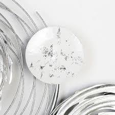 gilde wanddekoobjekt wandrelief circles weiß silberfarben wanddeko aus metall wohnzimmer