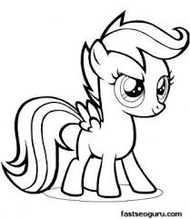 My Pony Friendship Is Magic Printable Coloring Pages Scootaloo Pencil And In Color