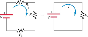 Two Electrical Circuits Are Compared The First One Has Three Resistors R Sub