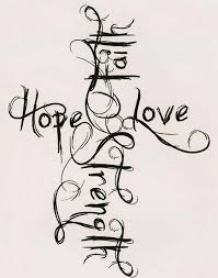 Faith Hope Love And Strength Tattoos Designs For Back Chest