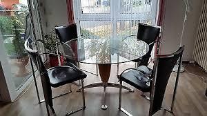 ronald design glastisch esszimmer liebhaberexemp