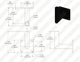 wall mount bracket for led area lights and led parking lot lights