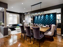 tufted velvet banquette contemporary dining room candice olson