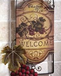 new 12 wall clock in box chateau wine grapes vineyard tuscan