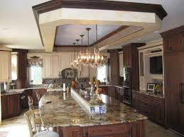 Free Standing Island With Stone U Shaped Kitchen Design Pictures Beige L Cabinet Mantel Range