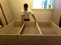 Build Platform Bed Frame Diy by Building Platform Bed Frame Part 2 Of 10 Youtube