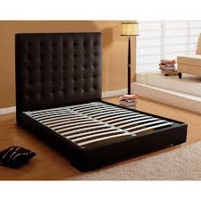 fresh diy king platform bed with leather headboard 9164
