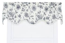 Jacobean Floral Country Curtains by August Grove Hawthorn Floral Scallop 70
