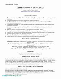 Registered Nurse Resume Sample Newly Graduate Luxury Cover Letter Samples For A