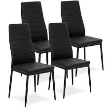 Amazon.com - Best Choice Products Set Of 4 Modern High Back Faux ... Amazoncom Hcom 44 Tufted High Back Velvet Upholstered Accent White Or Black Leather Ding Chairs With Chrome Legs And Linx Sleek Chair Deals Ranger With Arms Blackgrey Fabric Stuart Dunn Scoop Leg Hlingdal 65 Blackwhite Chairs Colorschemes That Rock In 2019 Caline Breeze Highback Chair Black Finnish Design Shop Home Decators Collection 215 X Sunbrella Cast Teak Steelcase Turnstone Executive 319 Used Nilkamal Blaze Highback Black Fniture Ozark Trail Folding Head Rest Fuchsia Classical High Back Smoking Patent Leather