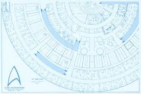 Images Deck Plans by Trek Blueprints Uss Enterprise 15mm Fasa Deck Plans