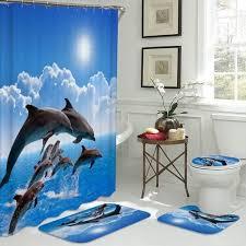 vova ozean design delphin 4 in 1 wasserdichte stoff bad 3d