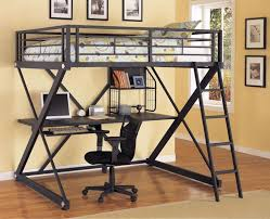 bunk beds metal loft bed with desk underneath full size loft