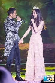 Huang Xiaoming Angelababy Attend New Year Concert