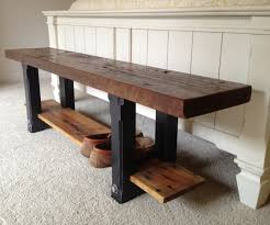 Rustic Wood Entryway Bench Diy Small Wooden Ideas Marku For