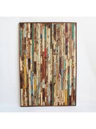 Reclaimed Boat Wood Panel Rustic Style
