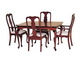 Queen Anne Dining Room Furniture Adorable Pid Amish Self Storing Table