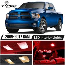 2009-2017 Dodge RAM 1500 2500 3500 Red LED Interior Lights Package ...