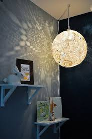 DIY Doily Pendant Light