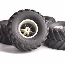 Rc Big Foot Tires 26403 Rubber Tires Rims Set For 1/8 Truck RC ... My Traxxas Rustler Xl5 Front Snow Skis Rear Chains And Led Rc Cars Trucks Car Action 2017 Ford F150 Raptor Review Big Squid How To Convert A 2wd Slash Into Dirt Oval Race Truck Skully Monster Color Blue Excell Hobby Bigfoot 110 Rtr Electric Short Course Silverred Nassau Center Trains Models Gundam Boats Amain Hobbies 4x4 Ultimate Scale 4wd With Adventures 30ft Gap 4x4 Edition