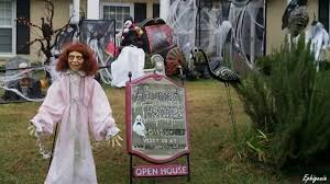 Halloween Witch Yard Stakes by Scary Outdoor Halloween Decorations Youtube Halloween