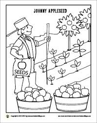 Johnny Appleseed Coloring Page Fall Preschool ActivitiesPreschool ApplesApple